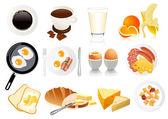 ícones de café da manhã — Vetorial Stock
