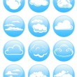 Cloud icons — Stock Vector #2421378