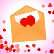 Vector de stock : Love message