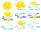 Weather icon collection — Stock Vector