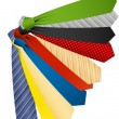 farbige Krawatten — Stockvektor