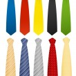 Tie set - Stock Vector