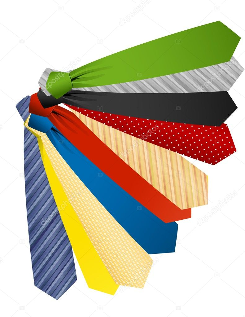 Colored ties,  vector illustration — Stock Vector #2591545