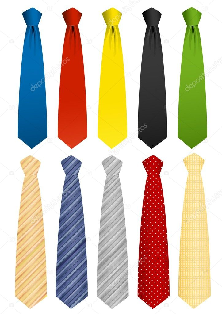 Tie set, vector illustration — Stockvectorbeeld #2591555