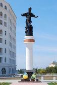 Hetman sagaydachnuy 的纪念碑 — 图库照片