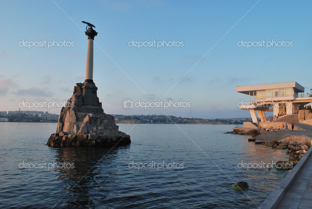 Monument to the flooded ships in the Sevastopol bay (Sevastopol, Crimea, Ukraine)  Stock Photo #1660090
