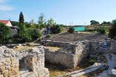 Ruins of ancient Chersones. theater — Stock Photo
