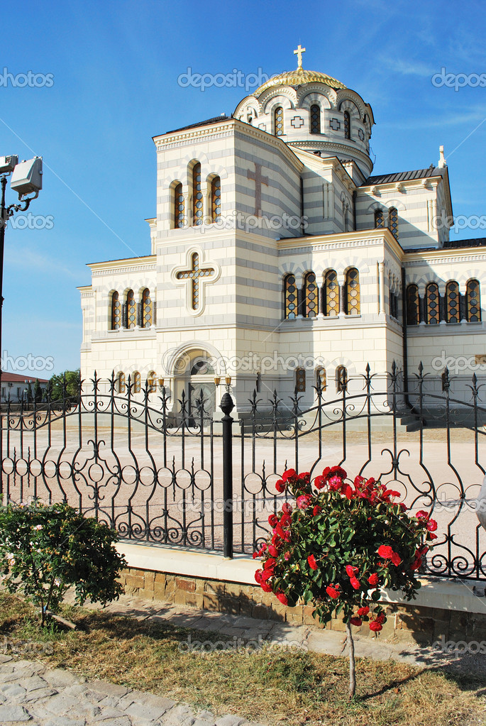 St. Vladimir's cathedral on the Chersonese (Sevastopol, Cpimea, Ukraine)  Stock Photo #1680263