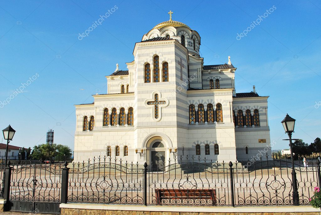 St. Vladimir's cathedral on the Chersonese (Sevastopol, Cpimea, Ukraine)  Stock Photo #1682967