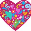 Decorative heart for Valentines day - Stock Vector