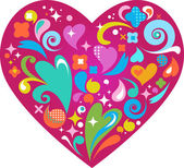 Coração decorativa para dia dos namorados — Vetor de Stock
