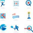 Royalty-Free Stock Vector Image: Collection of seo icons and logos