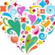 Decorative vector heart for Valentines d -  