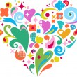 Decorative vector heart for Valentines d - Image vectorielle