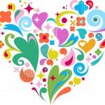 cœur décoratif vecteur pour valentines d — Vecteur