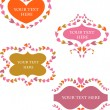 Decorative vector retro  frames with hea - Stock Vector
