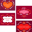 Decorative vector retro frames with hea — Vector de stock #1777485