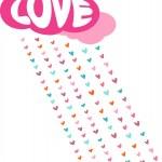 láska deštěm - dekorativní vektorové kartu pro v — Stock vektor