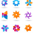Collection of abstract star icons — Stock Vector #1779901