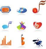 Samling av musik ikoner — Stockvektor