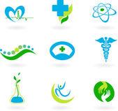 коллекция медицинских иконок — Cтоковый вектор