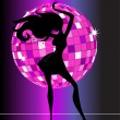 Sexy disco party girl — Vector de stock