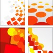 Collection of abstract vector designs — Stock Vector
