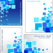 Blue mosaic vector backgrounds — Stock Vector