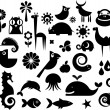Stock Vector: Collection of nature icons