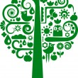 Royalty-Free Stock Vector Image: A vector tree with eco icons