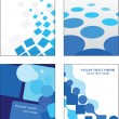 Stock Vector: Blue business card templates