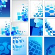 Stock Vector: Geometric blue vector backgrounds