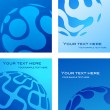 Royalty-Free Stock Vector Image: Business card templates with blue globe