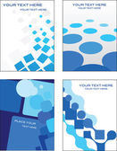 Blue business card templates — Stock Vector