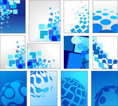 Geometric blue vector backgrounds — Stock Vector