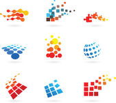 Set of abstract vector icons — Stock Vector