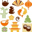 Royalty-Free Stock Vector Image: A set of orinental and Zen icons