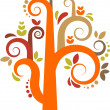 Royalty-Free Stock Vector Image: Colorful vector tree