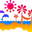 Summer backgorund - Stock Vector