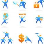 Collection of abstract logos - 10 — Stock Vector
