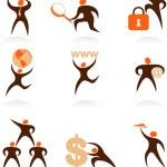 Collection of abstract logos - 7 — Stock Vector