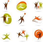 Collection of abstract logos - 16 — Stock Vector