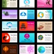 Collection of Yoga  business cards — Stockvectorbeeld