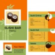 Template of sushi menu — Stockvectorbeeld