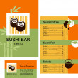 Royalty-Free Stock Obraz wektorowy: Template of sushi menu