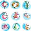 Collection of Zen images — Stock Vector
