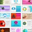 Collection of Zen business cards — Imagens vectoriais em stock
