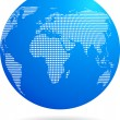 Royalty-Free Stock Vector Image: Blue globe - technology theme