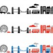 Stok Vektör: Vector illustration of London city