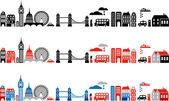 London city vektör çizim — Stok Vektör
